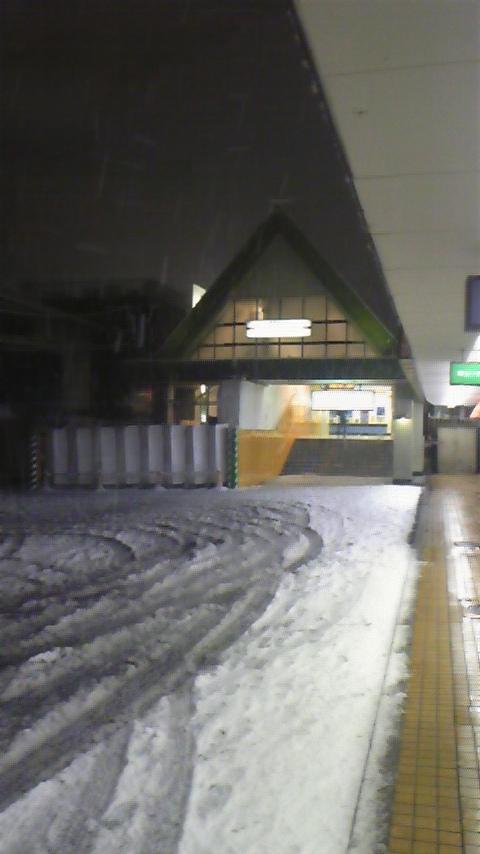 雪の川越市駅2011<br />  。